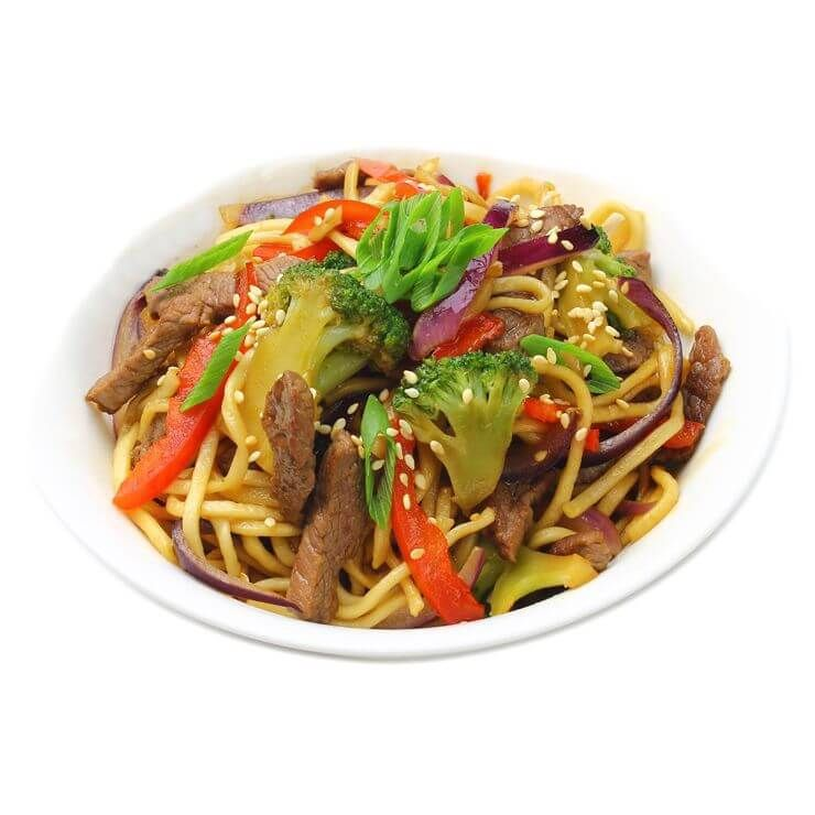 Egg noodles with beef