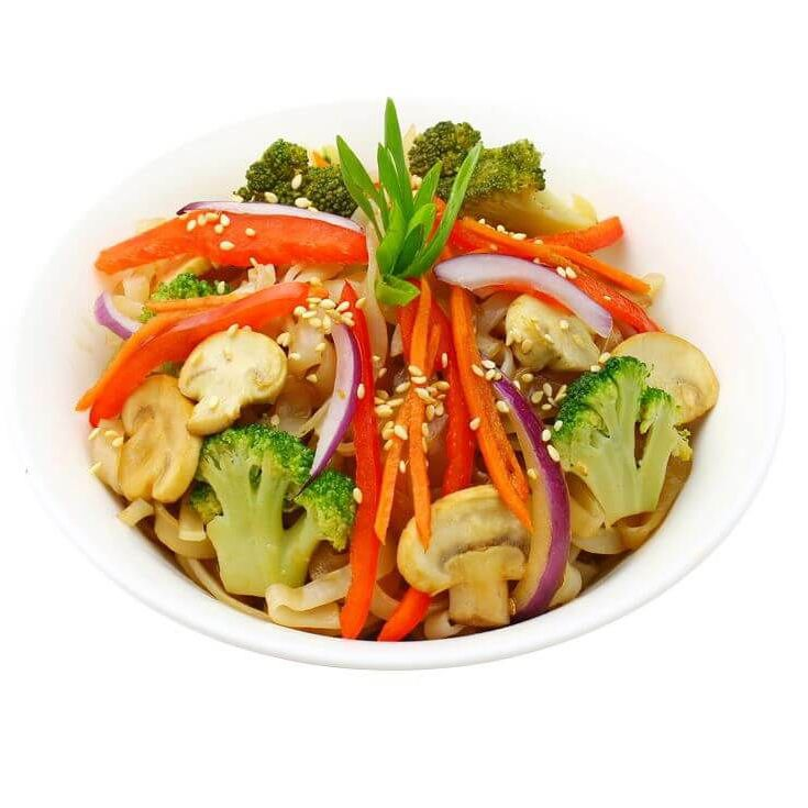 Udon with vegetables