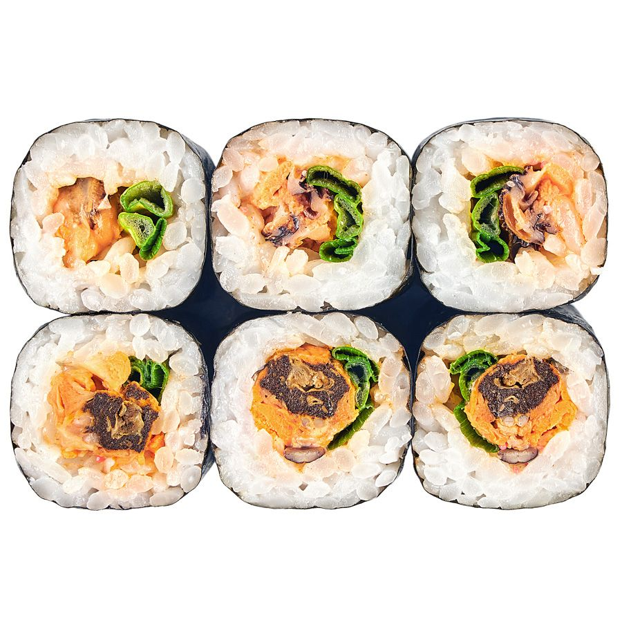 Spice roll with mussels